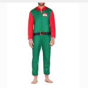 North Pole Santa ELF Unisex One Piece Pajamas